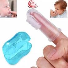 Детская зубная щетка на палец детский инструмент для чистки