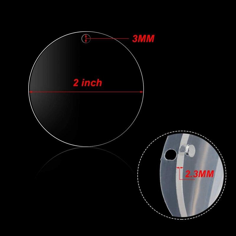 curvatura da chave do disco acrílico para ofícios do artigo de diy