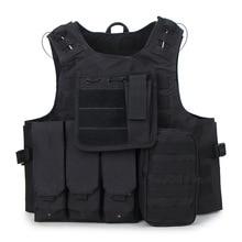 Военный тактический жилет, камуфляжный разгрузочный жилет для пейнтбола, спецназ, камуфляжная униформа из ткани Оксфорд для охоты
