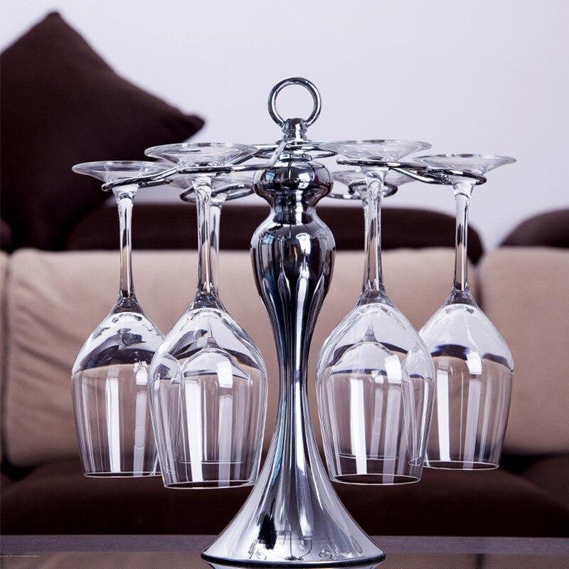 1Pc Stainless Steel Spiral Wine Bottle Glass Holder Dinner Table Goblet Hanging Storage Drain Rack Home Supplies
