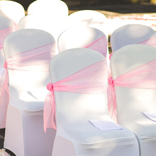 Sashes Wedding-Chair Organza Knot Hotel for 50/100pcs