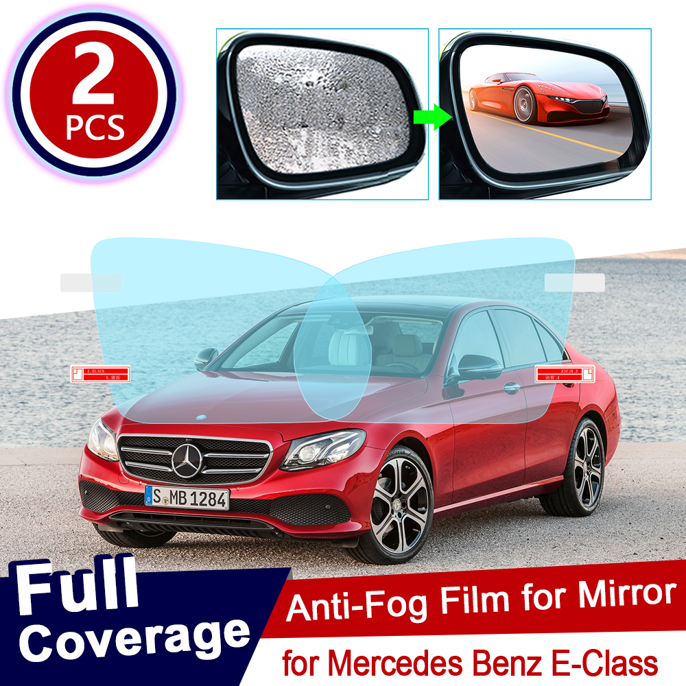 for Mercedes Benz E-Class W211 W212 W213 E-Klasse E200 E250 E300 <font><b>E220d</b></font> AMG Full Cover Anti Fog Film Rainproof Car Accessories image