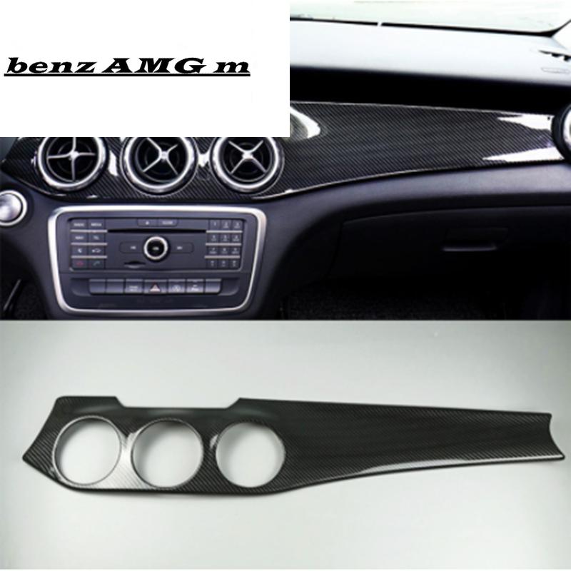 Carbon Fiber Color Center Console Dashboard Panel Decoration Cover Trim For Mercedes Benz GLA X156 CLA C117 LHD 2013-2018