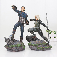 17 21cm Movie The Avengers 4 Endgame figure Captain America Black Widow Statue KO's Iron Studios 1/10 Painted Figure Model Toys