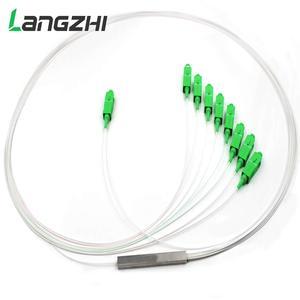 Image 3 - 10 шт./лот 0,9 мм стальной трубчатый волоконно оптический PLC сплиттер 1x8 SC/APCMini Blockless 1*8 Sc APC коннектор волоконно оптический PLC сплиттер
