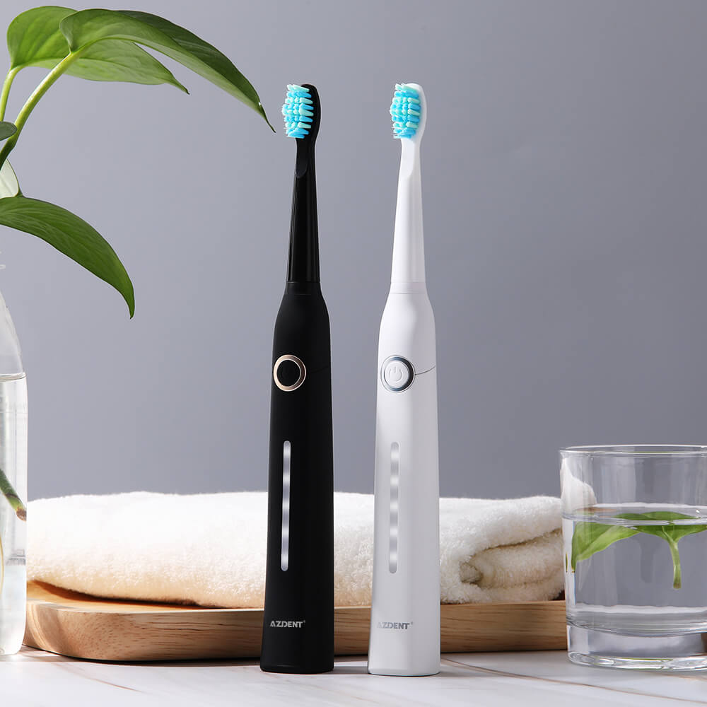 AZDENT Electric Toothbrush Rechargeable USB Sonic Toothbrush 5 Mode Travel Toothbrush + Replacement Head Adults Tooth Whitening