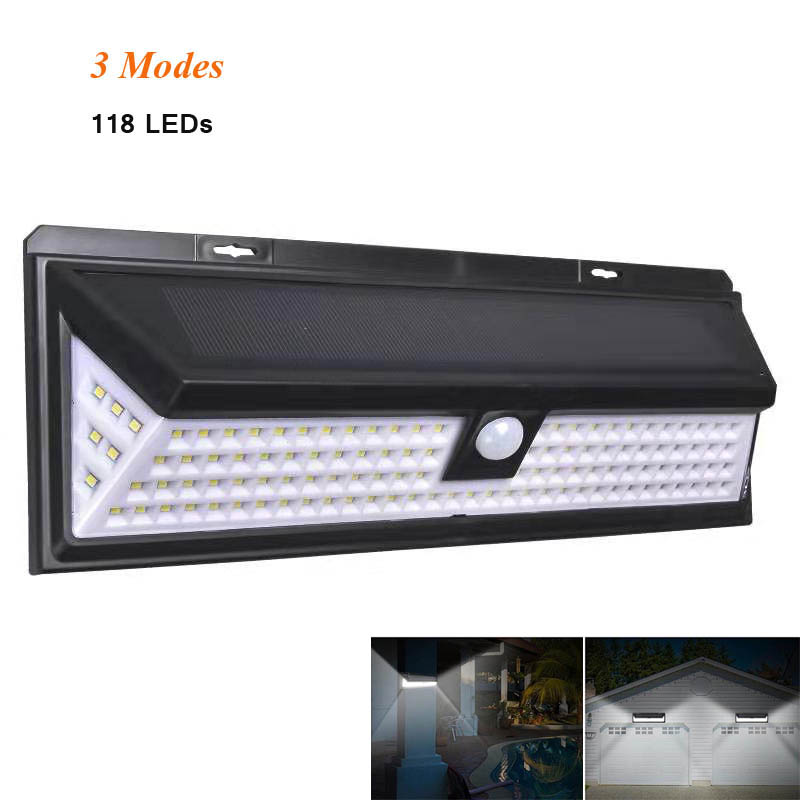 Solar Lamp 118 LED PIR Motion Sensor Lamp Outdoors IP65 Waterproof Solar Garden Lights Emergency Security Light Solar Wall Lamp
