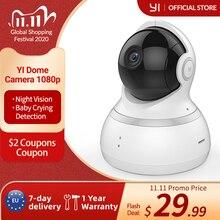 يي كاميرا بشكل قبة ، 1080p HD داخلي عموم/إمالة/التكبير نظام مراقبة الأمن IP اللاسلكية مع الرؤية الليلية ، وتتبع الحركة