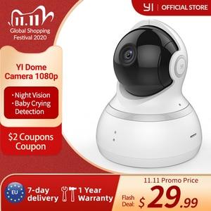 Image 1 - يي كاميرا بشكل قبة ، 1080p HD داخلي عموم/إمالة/التكبير نظام مراقبة الأمن IP اللاسلكية مع الرؤية الليلية ، وتتبع الحركة