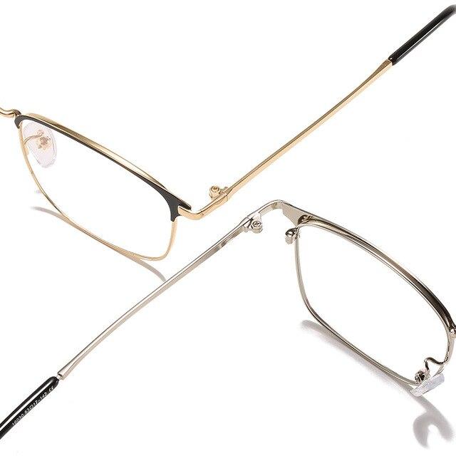 Фото мужские очки в деловом стиле с полной оправой металлическая