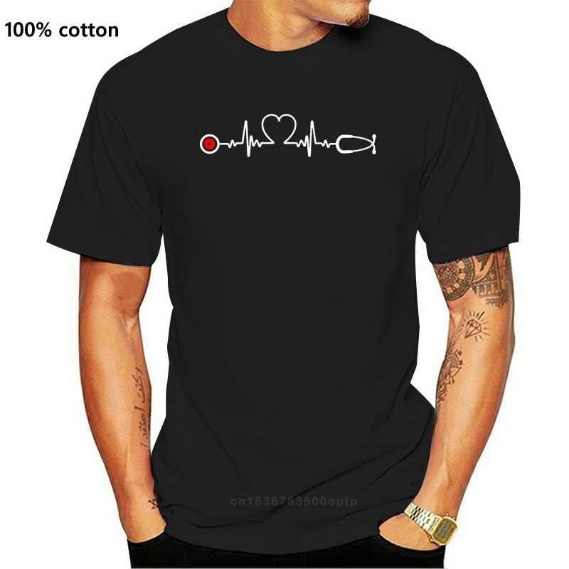Новая забавная футболка для медсестры с рисунком сердцебиения Lpn Icu Er Rn, Мужская футболка с круглым вырезом и надписью, Юмористическая футболка унисекс, большой размер Xxxl, потрясающая футболка