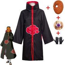 Costume de Cosplay Kakashi Tobi Obito, cape à manches longues, Costume de carnaval d'halloween amusant pour adultes
