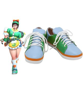 Game OW Cosplay Mei Shoes Honeydew Skin Mei Costume Accessories Cosplay Shoes image