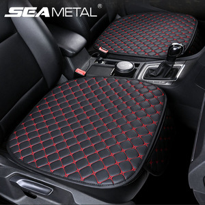 Image 1 - Car Seat Cover Set Universal Leather Car Seat Covers Protection Auto Seats Cushion Pad Mats Chair Protector Interior Accessories
