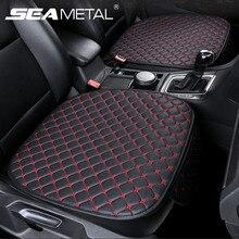 Conjunto de capa de assento de carro universal couro tampas de assento de carro proteção assentos de automóvel almofada esteiras cadeira protetor interior acessórios