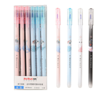 цена на 4Pcs/lot Erasable Pen Refill Rod 0.5mm Blue/Black Ink Cute Gel Pen Refills Set Kawaii Pen School Office Supplies Tool Stationery
