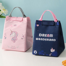 Portable Insulated Thermal Cooler Bento Lunch Box Tote Bag Waterproof Leisure Storage Bag for Home Kitchen Kids Food Container oxford thermal lunch bag insulated cooler storage women kids food bento bag portable leisure accessories supply product stuff