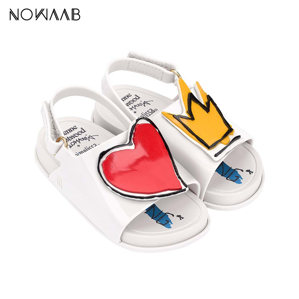 Mini Melissa Beach Slide Sandal Toddler Girl Jelly Shoes 2020 NEW Baby Shoes Melissa Non-slip Sandalias Sandals Princess