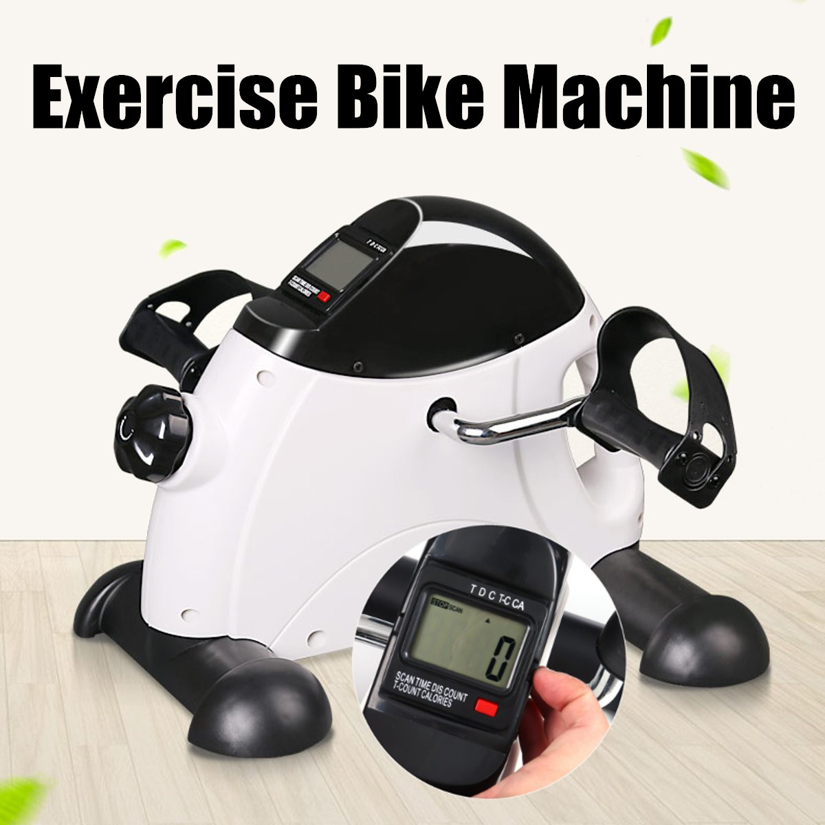 Home Exerciser Fitness LED Display Pedal Bike Exercise Indoor Trainer Exerciser Cycling Fitness Mini Pedal Arms Legs Physical