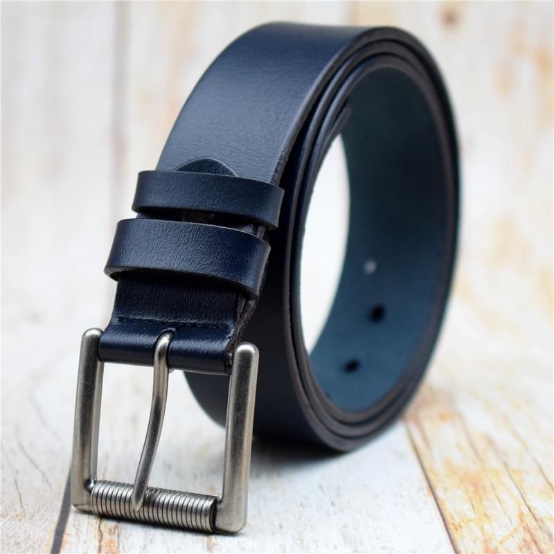 Genuine Leather Men Belt Black/green/coffee/blue Male Strap Large Size 90CM-130CM Quality Cow Waist Belts 2021 Man Jeans Belt