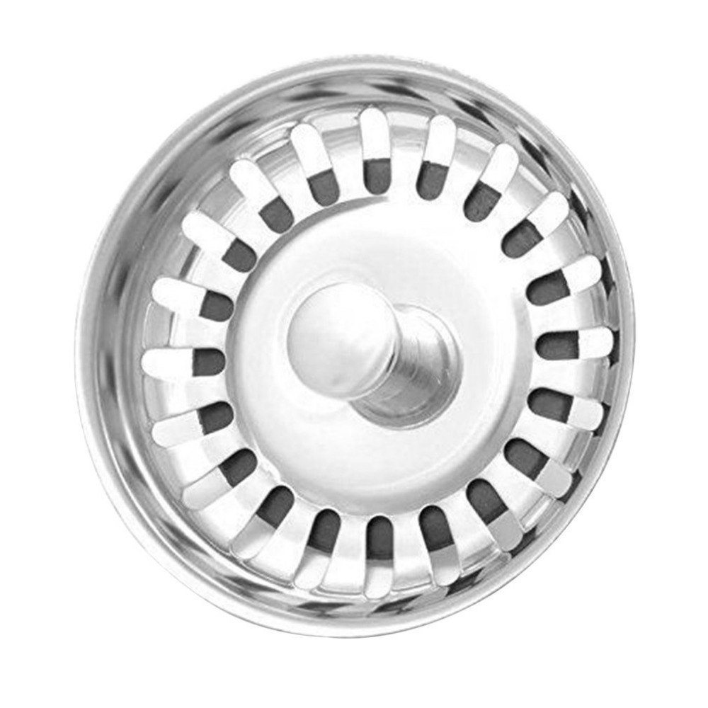 Kitchen Sink Strainer Stoppers Stainless Steel Circle Sink Drainer Filter Water Stopper Chock Plug Replacement Filter