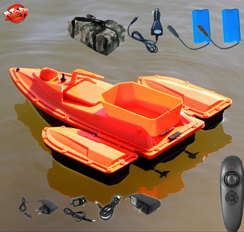 Single Hand Automatic Nesting RC Fishing Boat Ship 2.4G 500M 3 Hours Life Time Fixed Speed Cruise Wireless Control RC Bait Boat
