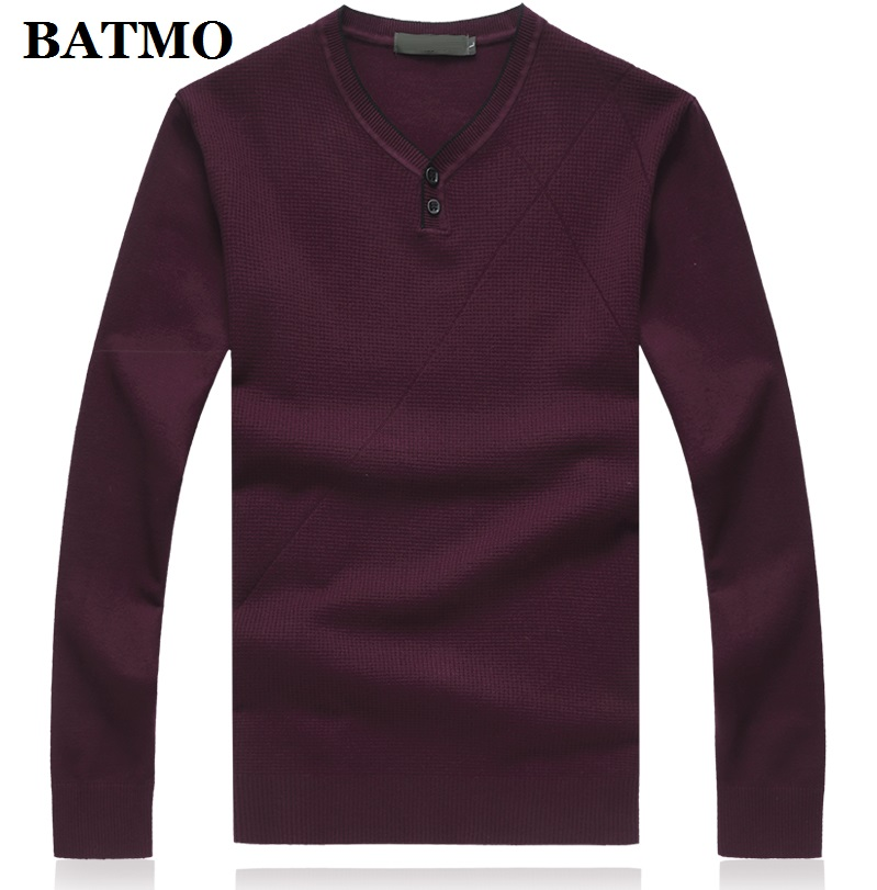 BATMO 2019 New Arrival Autumn High Quality Casual Sweater Men,men's Sweater ,plus-size M-8XL 9862