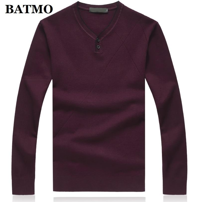 BATMO 2019 New Arrival Autumn High Quality Casual Sweater Men,men's Sweater ,plus-size M-8XL 9862