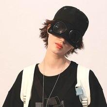 Men Women Pilot Glasses Duck Hat Fashion Wild Students Stree