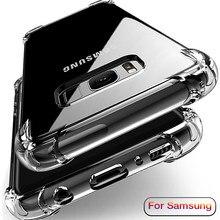 Airbag Silikon Telefon Fällen Für Samsung Galaxy S8 S9 S10 Plus Weiche Rückseitige Abdeckung Auf Hinweis 8 9 10 A50 a70 A10 Klar Transparent Shell