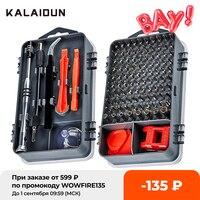 Kalaidun-Kit de herramientas de reparación de teléfono móvil, incluye broca de destornillador magnético, 112 en 1