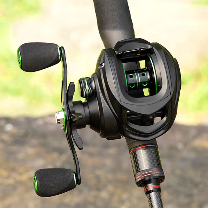 LINNHUE Fishing Baitcasting Reel 8.1:1 Casting Reel Fishing 8KG Max Drag Fishing Reel Magnetic Brake System Super Light Wheels
