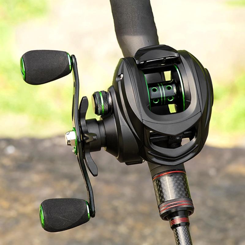 LINNHUE Fishing Baitcasting Reel 8.1:1 Casting Reel Fishing 8KG Max Drag Fishing Reel Magnetic Brake System Super Light Wheels