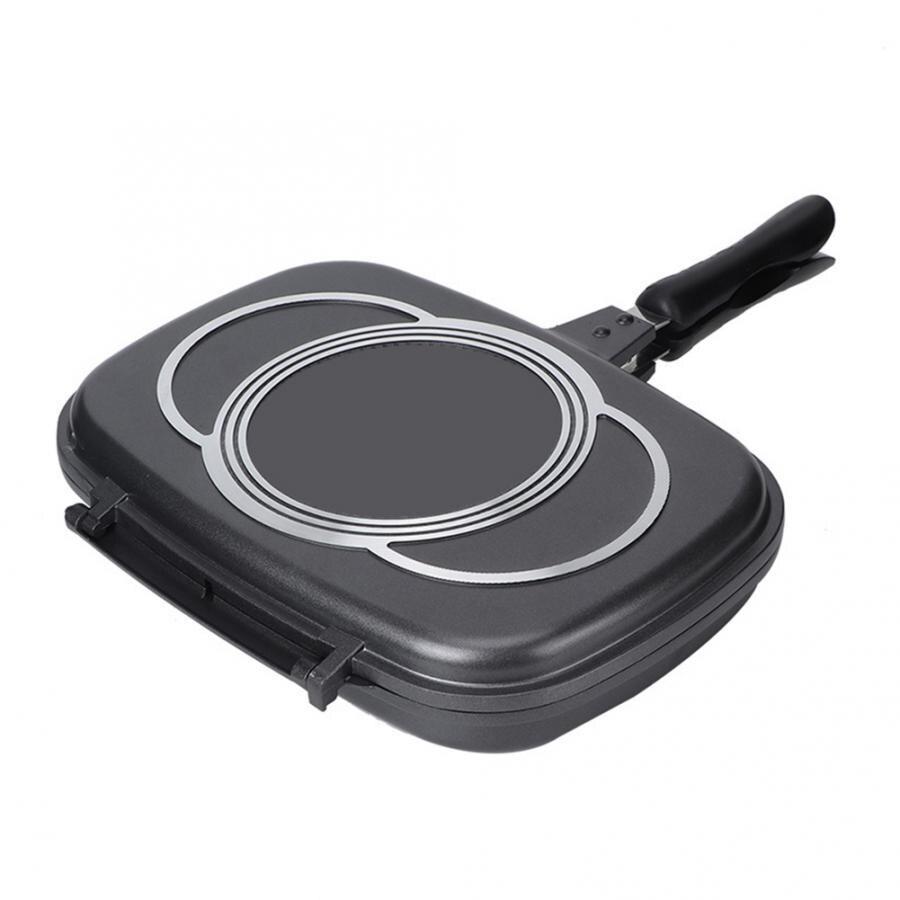 Сковорода для жарки Sartenes, двусторонняя антипригарная сковорода для барбекю, инструмент для приготовления пищи, посуда для печи, антиобжигающая ручка Crepieres Electrique