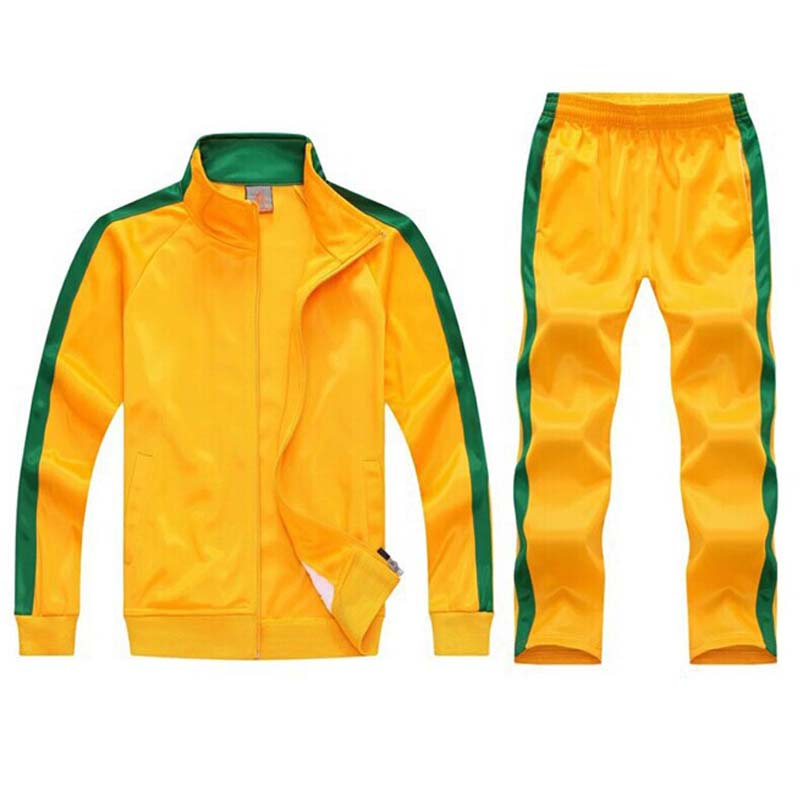 tracksuit men sport suits football training sweat suits school uniform jogging sportswear teengers track suits casual outfits-in Men's Sets from Men's Clothing