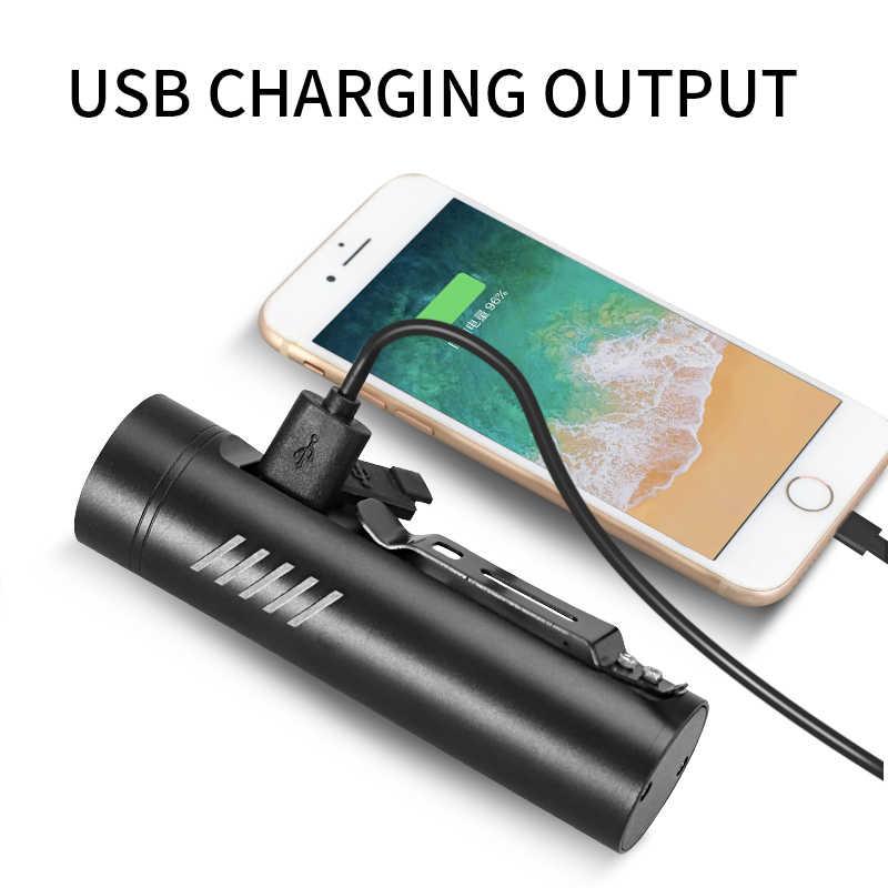 החזק ביותר 3200mAh P90 P50 L2 פנס לאופניים T6 אור USB נטענת סוללה רכיבה על אופני אביזרי כמו כוח בנק