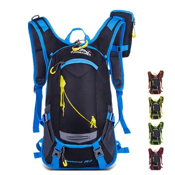 Plecak na rower 18L wodoodporny plecak do wspinaczki plecak na zewnątrz sportowy plecak podróżny z 2L torbą na wodę dla mężczyzn tanie i dobre opinie VEMIKYSION CN (pochodzenie) 0inch Nylon Plecaki 0 8kg Waterproof Bag 26cm VK2020031801 22cm 45inch Black Red Yellow Green Orange
