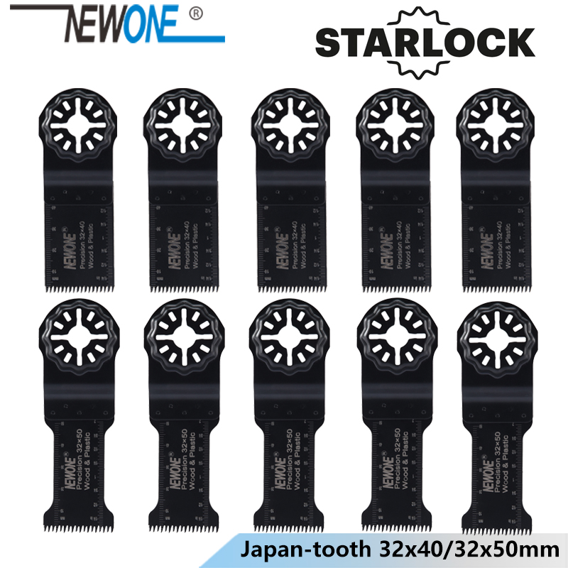 NEWONE Starlock 32*40/50mm HCS Lengthen Precision Japan Teeth Oscillating Tools Saw Blades Power Multi Tools Renovator Saw Blade