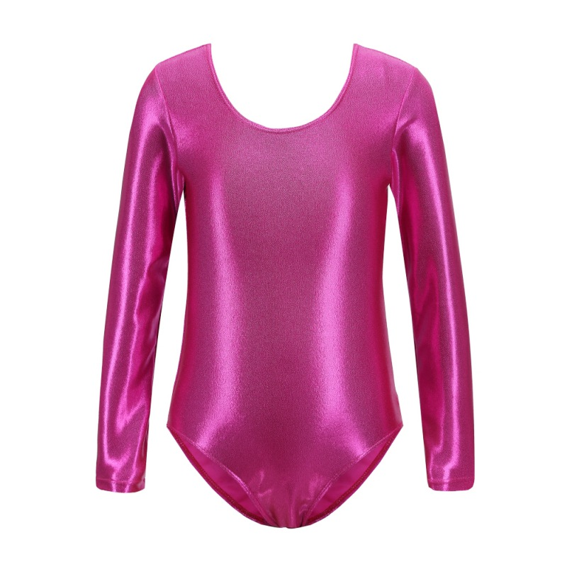 Kid Children Bodysuit Dance Wear Long Sleeve Gymnastics Leotard Backless Ballet Practice Dance Costume 6 Colors