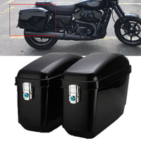 2Pcs 30L Black Motorcycle Luggage Tank Saddle Bag Motorcross Pannier Side Box Case For Harley Cruiser Kawasaki Honda #HL000072