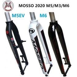 Вилка MOSSO M6 M5 M5E M5EV M3 MTB, Велосипедная вилка, подходит для 26 27,5 29er, дорожная Велосипедная вилка v, передние тормоза, конус, глянцевая/матовая 2020