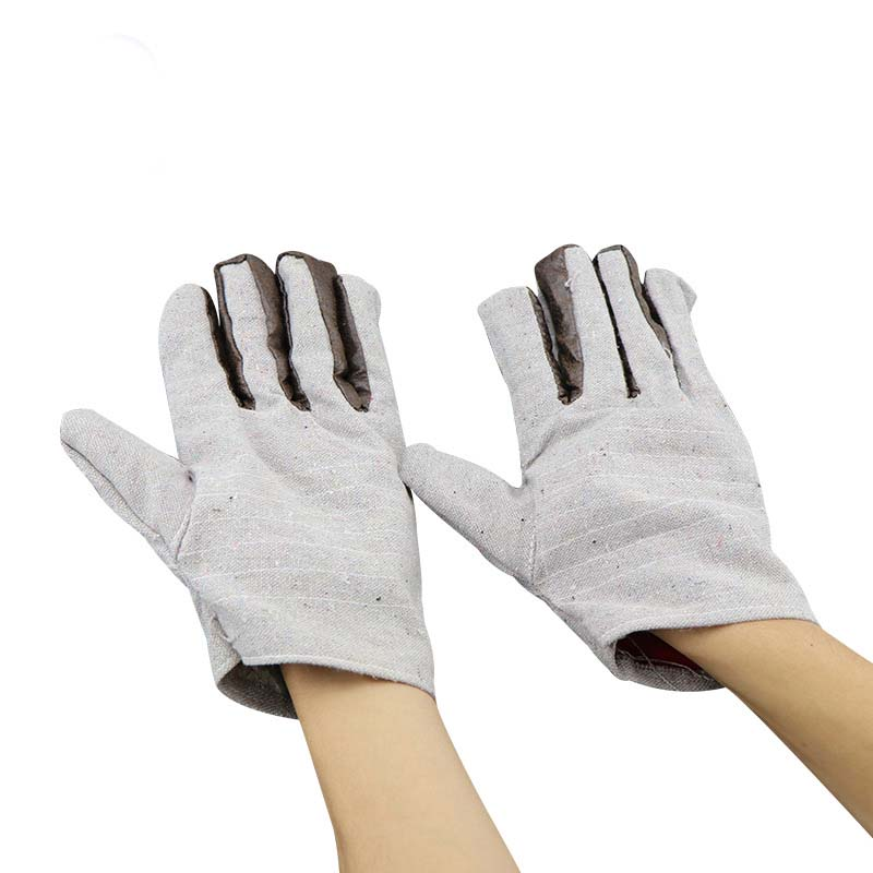 Thick Double-layer Canvas Gloves To Increase Electric Welding Protective Cotton Gloves