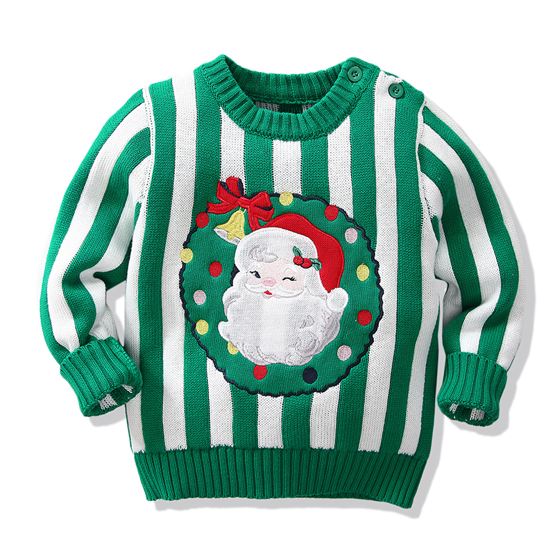 Christmas Baby Boys Girls Sweaters Winter 19 Toddler Baby Clothes With Deer Kids Christmas Sweater Embroidery Pull Fille Tops 18