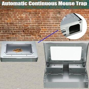Hogar automático continua ratonera reutilizable gran trampa para ratones jaula de roedores de gran efecto