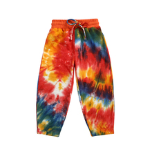 Kaiya Angel Winter Cotton Children Kids Clothes Tie Dye Mid Ankle-length Legging Pants With Drawstring Trousers 5pcs Wholesale