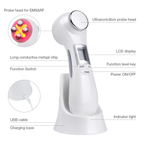Image 4 - 6 in 1 LED RF Photon Therapy Facial Skin Lifting Rejuvenation Vibration Device Machine EMS Ion Microcurrent Mesotherapy Massager