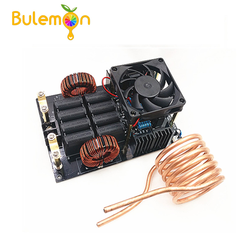 DC 50A 1KW 12-40V  High Voltage Generator High Frequency Low Voltage ZVS Induction Heater 1000W Board With Coil For Melt Metals