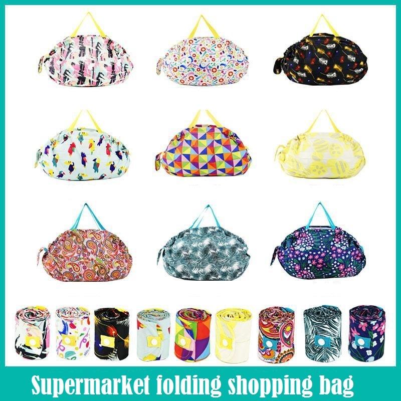 Printing Reusable Shopping Bag Foldable Bolsas Ecologicas Reutilizables Waterproof Torba Na Zakupy Eco Supermarket Grocery Bag