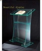 Darmowa wysyłka gorąca sprzedaż akrylowe ambona kościół wzory/niestandardowe akrylowe podium logo dostosuj w Meble kinowe od Meble na
