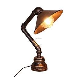 Styl industrialny retro lampy stołowe lampka do czytania Bar Cafe lampka nocna do sypialni fajka wodna żelazko oświetlenie biurkowe Home Decoration